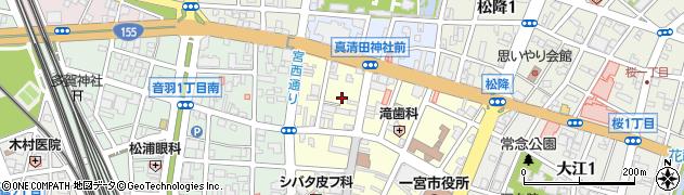 モンベール周辺の地図