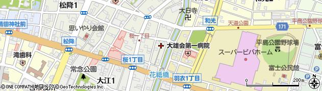 大石社周辺の地図