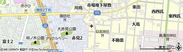 愛知県一宮市大赤見(地内市場屋敷)周辺の地図
