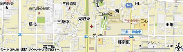 愛知県一宮市三条(郷南西)周辺の地図