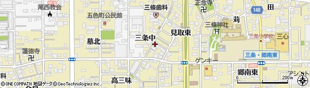 愛知県一宮市三条(中)周辺の地図