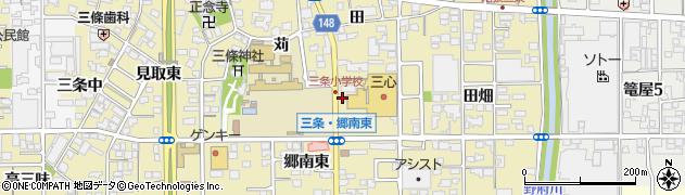 愛知県一宮市三条(郷南東)周辺の地図