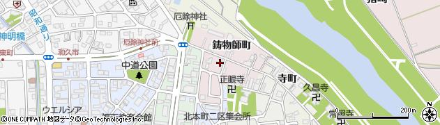 京都府福知山市鋳物師町周辺の地図