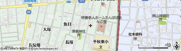 愛知県一宮市千秋町加納馬場(松下)周辺の地図