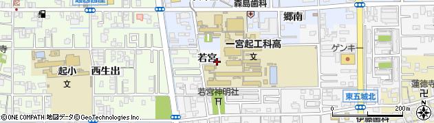 愛知県一宮市東五城(若宮)周辺の地図