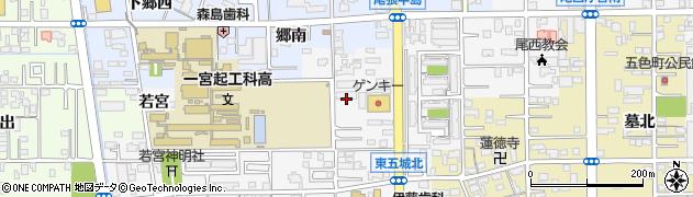 愛知県一宮市東五城(篭島)周辺の地図