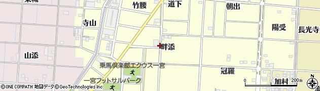 愛知県一宮市千秋町浮野(畔添)周辺の地図