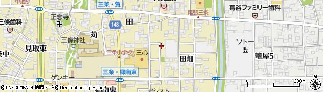 愛知県一宮市三条(田畑)周辺の地図
