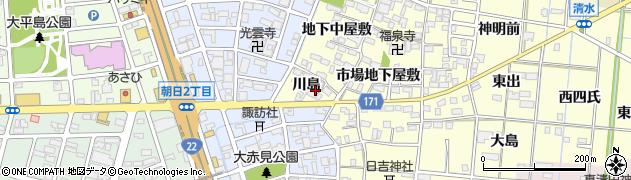 愛知県一宮市大赤見(川島)周辺の地図
