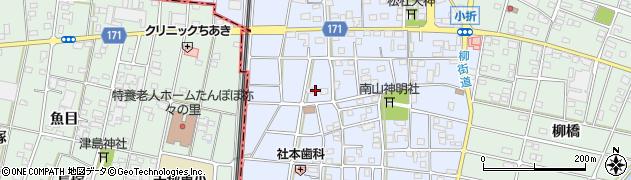 愛知県江南市田代町(南出)周辺の地図