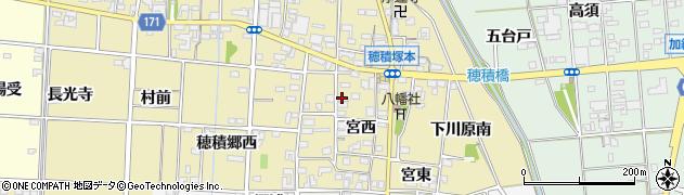愛知県一宮市千秋町穂積塚本周辺の地図