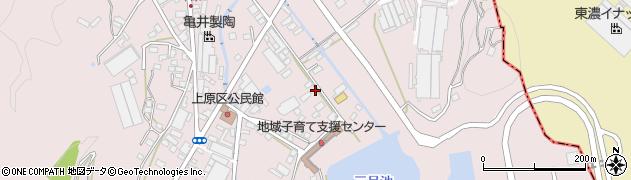 岐阜県多治見市笠原町(上原区)周辺の地図