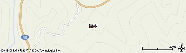 鳥取県三朝町(東伯郡)福本周辺の地図