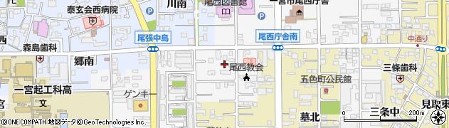 愛知県一宮市東五城(大平裏)周辺の地図