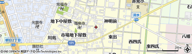 愛知県一宮市大赤見(市場東屋敷)周辺の地図
