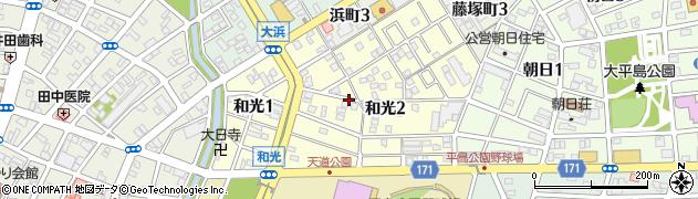 愛知県一宮市和光周辺の地図