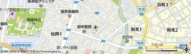 愛知県一宮市桜周辺の地図