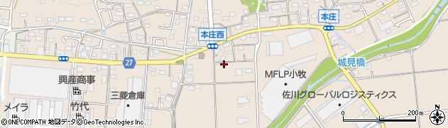 愛知県小牧市本庄周辺の地図
