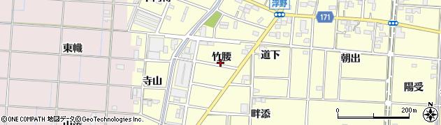 愛知県一宮市千秋町浮野(竹腰)周辺の地図