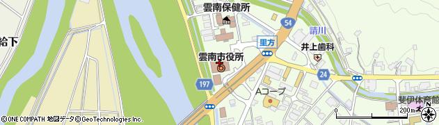 島根県雲南市周辺の地図