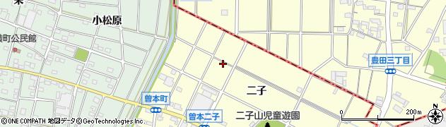 愛知県江南市曽本町(二子)周辺の地図