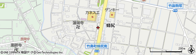 岐阜県羽島市竹鼻町(蜂尻)周辺の地図