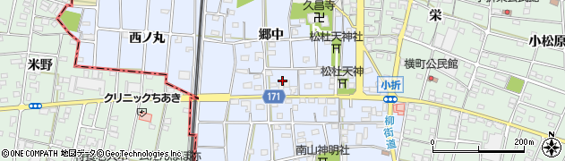 愛知県江南市田代町周辺の地図