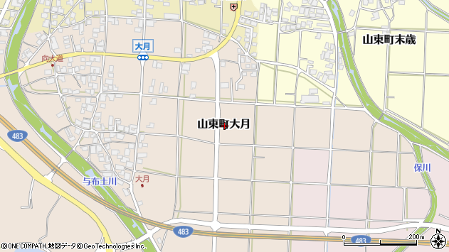 〒669-5153 兵庫県朝来市山東町大月の地図