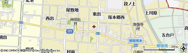 愛知県一宮市千秋町一色(東出)周辺の地図