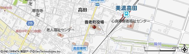 岐阜県養老郡養老町周辺の地図