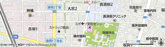 藤和シティホームズ一宮大宮周辺の地図