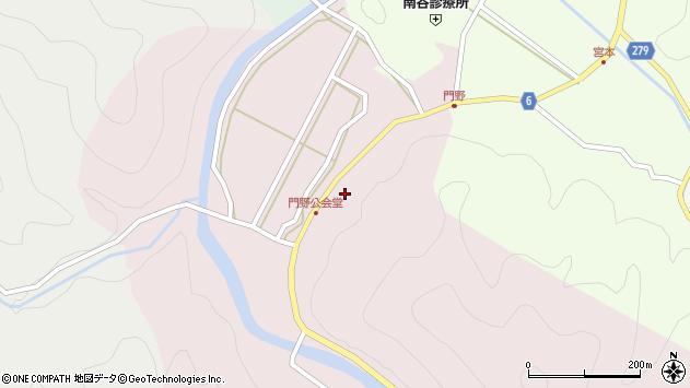 〒667-0433 兵庫県養父市大屋町門野の地図