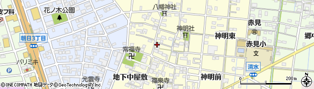 愛知県一宮市大赤見(地下東屋敷)周辺の地図