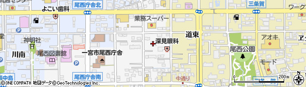 愛知県一宮市東五城(東備前)周辺の地図