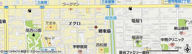 愛知県一宮市三条周辺の地図