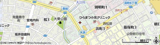 愛知県一宮市大浜周辺の地図