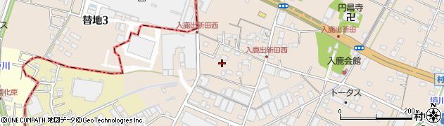 愛知県小牧市入鹿出新田周辺の地図