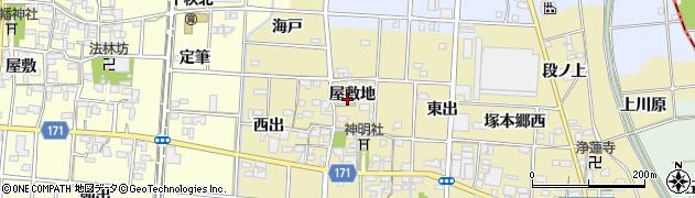 愛知県一宮市千秋町一色(屋敷地)周辺の地図