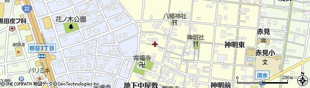 愛知県一宮市大赤見(地下西屋敷)周辺の地図