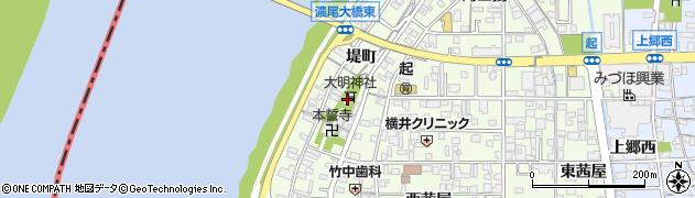 大明神社周辺の地図