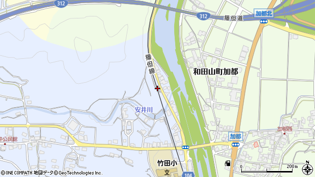 〒669-5251 兵庫県朝来市和田山町栄町の地図