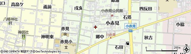 愛知県一宮市小赤見(磨屋)周辺の地図