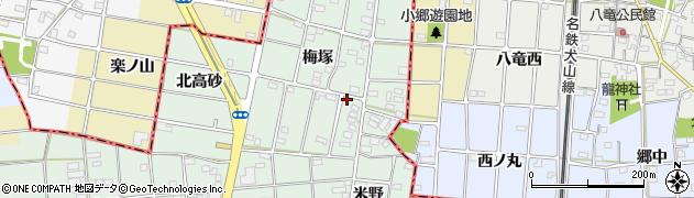 愛知県一宮市千秋町加納馬場(梅塚)周辺の地図