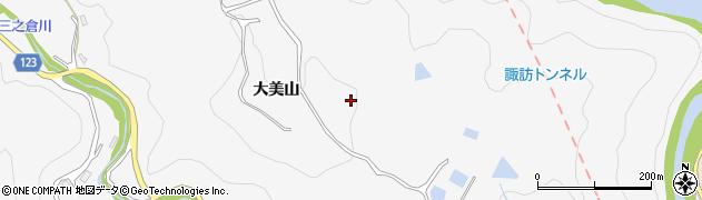 岐阜県多治見市三の倉町(大美山)周辺の地図