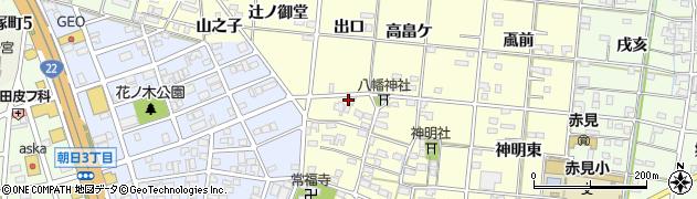 愛知県一宮市大赤見(出口)周辺の地図