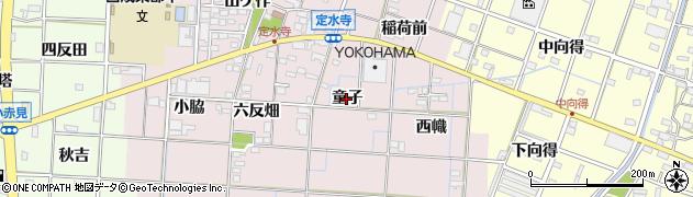 愛知県一宮市定水寺(童子)周辺の地図