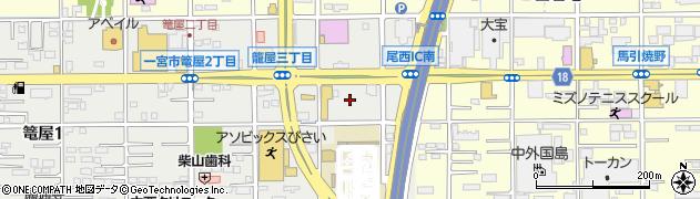 ブロンコビリー 尾西インター店周辺の地図