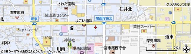 愛知県一宮市小信中島(仁井西)周辺の地図