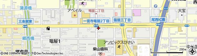 アオキーズピザ一宮西店周辺の地図
