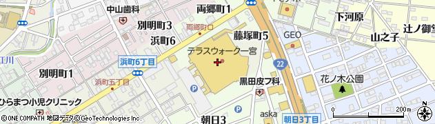 日本一 テラスウォーク一宮店周辺の地図